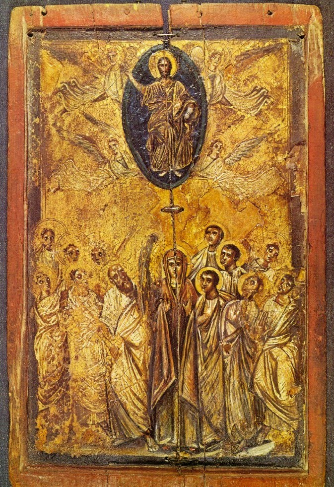 Icons & Imagery: The Ascension Medium: Encaustic Icon Size: 46 x 29.5 cm Date: 6th century Location: Saint Catherine's Monastery, Sinai.