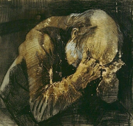 http://commons.wikimedia.org/wiki/File:Sorrowful_old_man.jpg