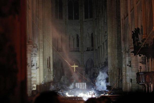 Image de la cathédrale au petit matin publiée sur le Facebook de l'Abbé Grosjean.