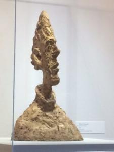 Alberto Giacometti, buste de Diego ( tête plate),1955, plâtre, Fondation Giacometti, Paris.