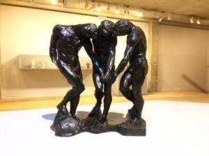Auguste Rodin, les Ombres, avant 1886, bronze, fonte au sable, musée Rodin, Paris.